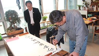 中国社会工作联合会总干事林平光先生访问心悦灵